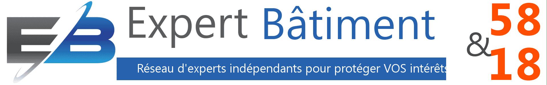logo expert batiment 58, logo expertise batiment Nevers, expert indépendant Nièvre, expert indépendant 58,